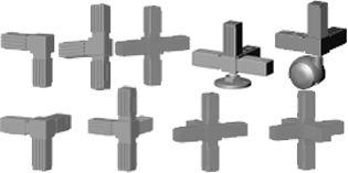 5 voies connecteur profilé en aluminium