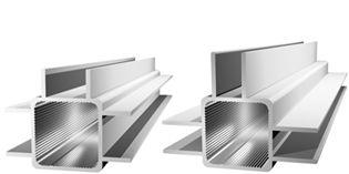 Aluminium tube carré avec des toiles 3 doubles