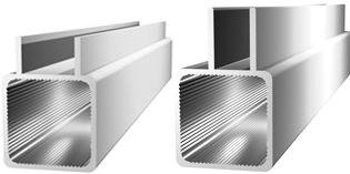 Aluminum square tubing with double-bridge