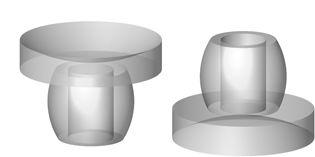 Amortisseurs pour des panneaux de verre