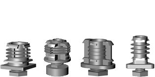 Height adjusters, screw assembled