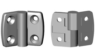 Non-detachable hinges