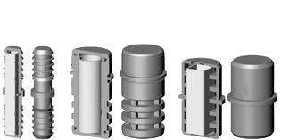 Rallonges pour tube cylindrique