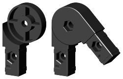 Gelenkverbinder bis 1Grad x mm Steckverbinder. - Alusteck