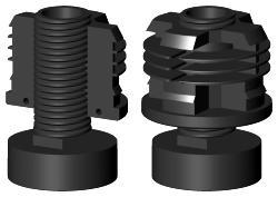 kunststoff rohrverbinder rohrstopfen stellteller aluprofile. Black Bedroom Furniture Sets. Home Design Ideas