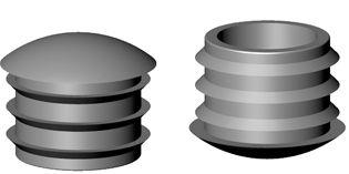 stopfen kappen und gleiter abschlussstopfen f r rundrohr gew lbter kopf serie sl. Black Bedroom Furniture Sets. Home Design Ideas
